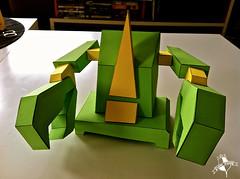 DAIMbot v1.1 (nick knite) Tags: green paper toy graffiti robot 3d tribute graff bot daim papertoy