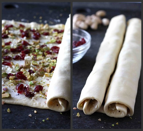 Cranberry, Pistachio & Goat Cheese Palmier Collage