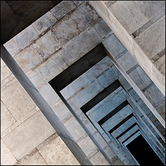 into the tunnel (rita vita finzi) Tags: italy rome roma lines architecture composition square columns perspective porch multiples abstraction eur concentric modules ritavitafinzi