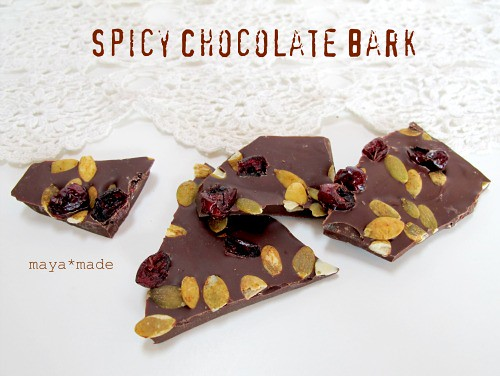 spicy chococlate bark