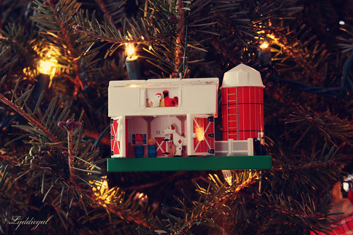 Little People Barn Ornament