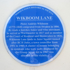 Photo of Pieter Andries Wikboom blue plaque