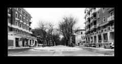 Viale della Vittoria... just ice and snow (ThePetrock) Tags: bw white snow black ice nikon neve biancoenero ancona ghiaccio vittoria viale d80 flickraward thepetrock
