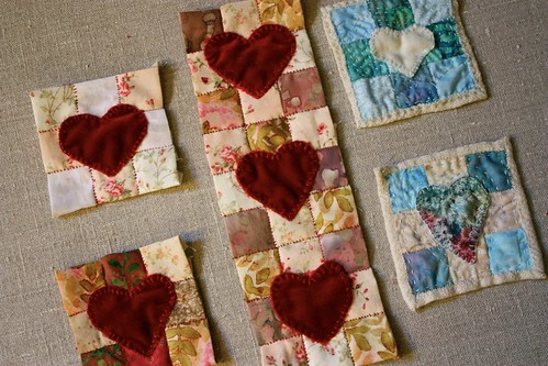 Velvet Hearts on Patchwork