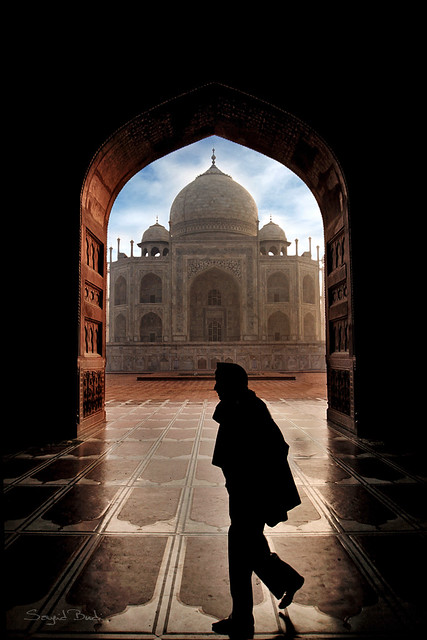Between Me, the Archway and the Taj Mahal