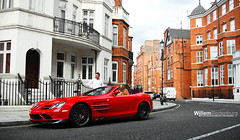 Mercedes-Benz SLR McLaren 722s Roadster (Willem Rodenburg) Tags: red 3 black colour slr london photoshop