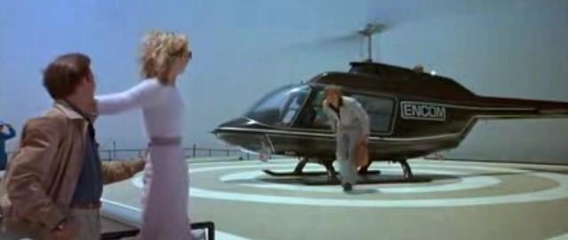 TRON 1982 final helicóptero
