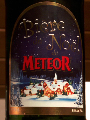 Biere de Noel de Meteor, Brasserie Meteor