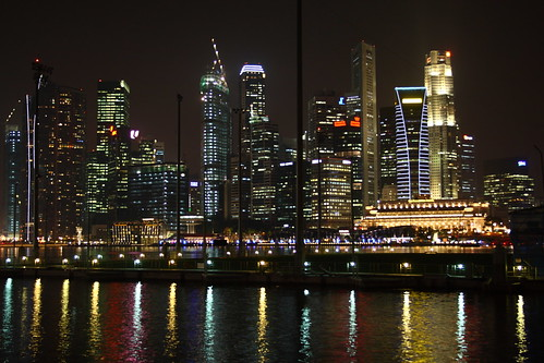 Singapore CBD Night Scene