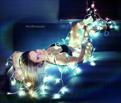 Katie Model ~ XMas Lights Gaga Style (~Phamster~) Tags: lightpainting lights flash led xmaslights gaga phamster