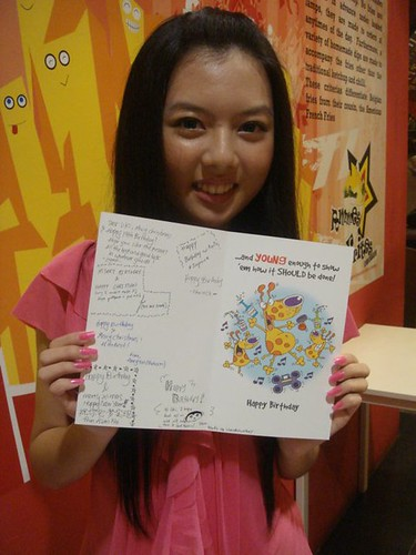 Chee Li Kee with birthday card