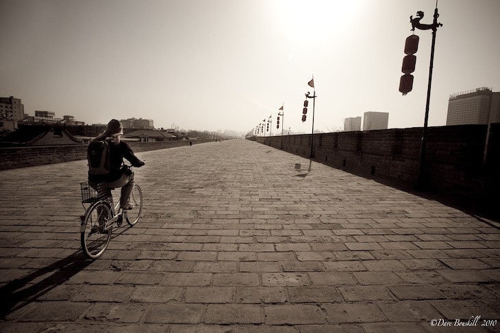 cycling the city wall of Xi'an
