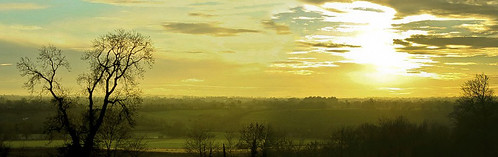 A view over the hill of Tara as seen from Brú na Bóinne (dwelling place of the Boyne)