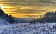 valley sun (Matthew P Sharp) Tags: winter sunset snow canada canon alberta valley 7d hdr tamron1750