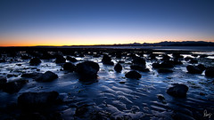 A Space Odyssey? (Doug van Kampen) Tags: seattle trees winter sunset cold beach water washington rocks ray waterfront dusk tide pugetsound lowtide tidal singh edmonds olympicmountains rgnd