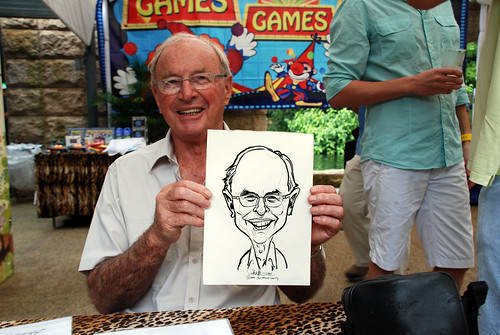 Caricature live sketching for BHP Billiton Family Day 2010- 8