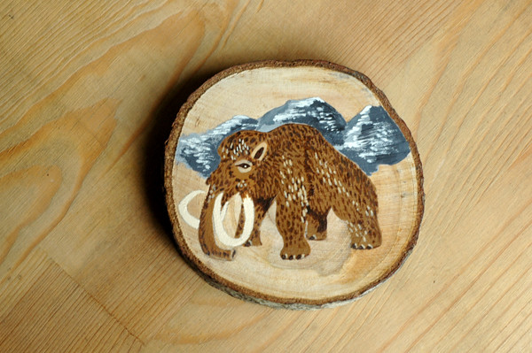 woolly mammoth wood slice 72