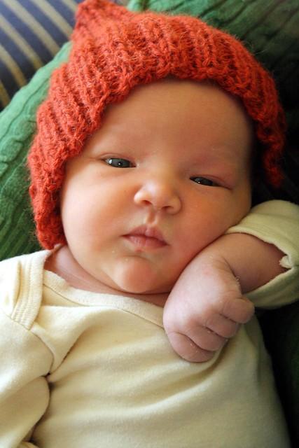 newborn pixie pose