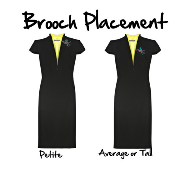 Petite Brooch Placement