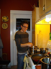 Dan making chocolate vodka