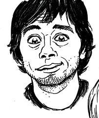 self portrait (+DemonHunter+) Tags: boy portrait man me smile pen pencil ink sharpie