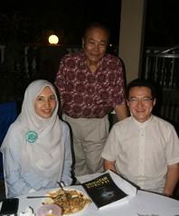 with DAP Senator Tunku Aziz & Bukit Bendera MP Liew Chin Tong