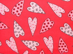 #608 - Red Dotty Hearts *limited* (Vociferous) Tags: stash rat obsession collection fabric rats fabrics chelseyscozies petbedding