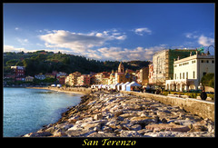 San Terenzo [FRONT PAGE] (Fil.ippo (on vacation)) Tags: sea seascape san raw mare gulf liguria shelley byron filippo marino poets golfo topaz adjust lerici poeti terenzo d5000