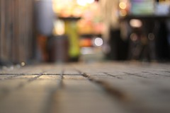 January Tenth. (redaleka) Tags: road street colors way walking lights colorful dof bokeh pavement ground tiles shops louiselhay threehundredsixty