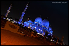The Blue Octopus (a.shah) Tags: night uae mosque abudhabi sheikhzayedmosque