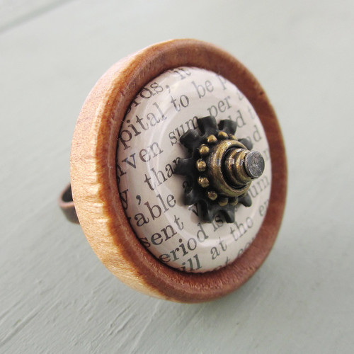 Antique Book Ring
