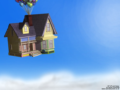 pixar up house model. UP house copyrighted to Pixar.