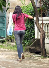 Cewek (Mangiwau) Tags: girl festival indonesia asian java blood butt eid goat jeans goats jakarta gore cutting lamb lambs throat kambing bogor slaughterhouse sacrifice slaughtering adha sacrificial potong idul cewek dipotong