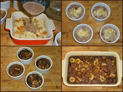 Choco Banana Bread Pudding