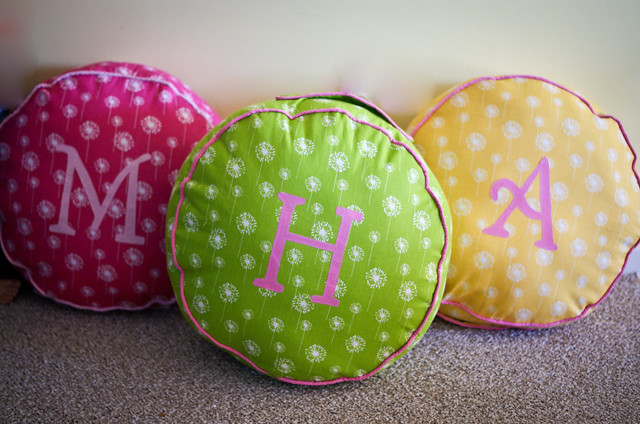 Monogrammed Floor Pillows