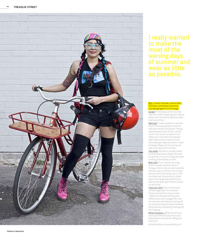 """Treadlie Magazine Feature- """"I really wanted to make the most of the waning days of summer and wear as little as possible."""""""