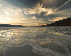 Badwater Reflections, March 17, 2010 (Robert Pearce Photography) Tags: california light sky water clouds reflections landscape march deathvalley formations 2010 badwater nikond200 robertpearce robertpearcephotography