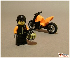 Custom Bike (ZetoVince) Tags: orange bike greek lego vince moto motorcycle minifig custom zeto zetovince dreamdealer