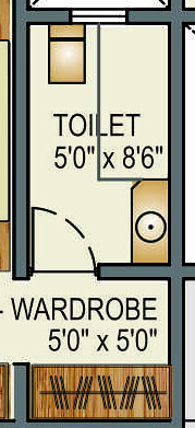 "5'x8'6"" Toilet in 5.5 BHK Penthouse of Rs. 245 Lakhs in Crossroads at Baner Pune"