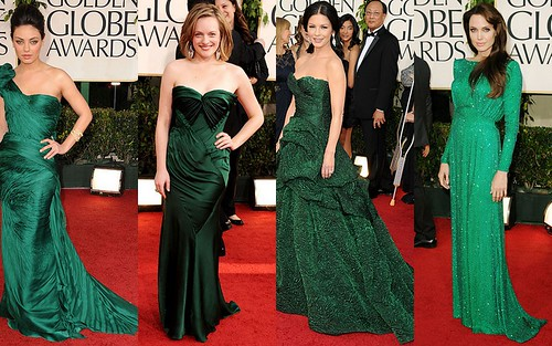 Green Collage 2011 Golden Globes