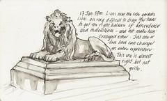 17Jan11 Lion statue (alissa duke) Tags: sydney royalbotanicgardens