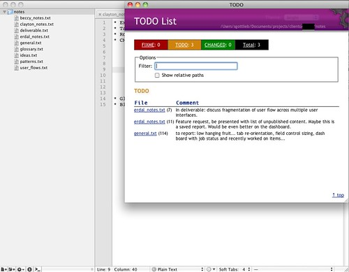Textmate Notebook