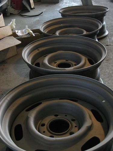 sandblasted wheels