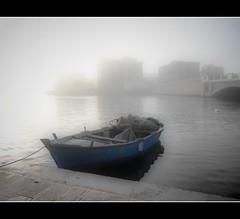 Nebbie Joniche - Fog in Taranto (NIKOZAR (Nicola Zaratta)) Tags: sea fog boat barca italia ponte nebbia puglia itay taranto cittvecchia marpiccolo tarantovecchia portanapoli flickraward bestcapturesaoi tripleniceshot flickraward5 pontesantegidio