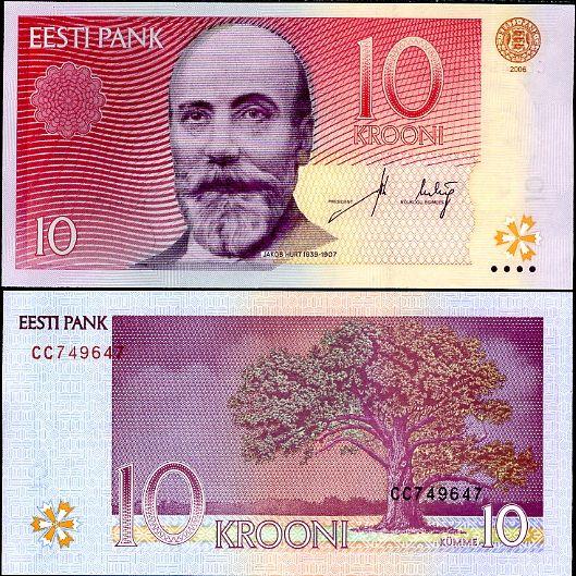 10 Krooni Estónsko 2006-7