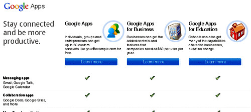 Google Apps main page - blankpixels.com