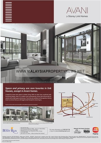 Avani 2-Storey Link Homes for sale in Bandar Bukit Raja Klang