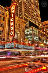 Chicago Theatre 1 (Steven Sabourin) Tags: chicago theatre marquee lights night taillights cab taxi enjoyillinois