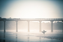 (*Seth) Tags: ocean california reflection pier sandiego wave surfers column lajollashores