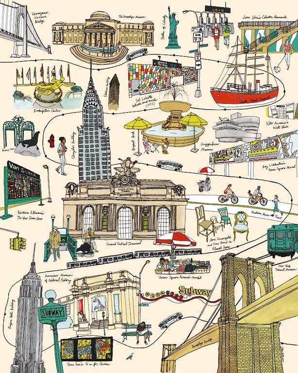 Julia Rothman Subway poster